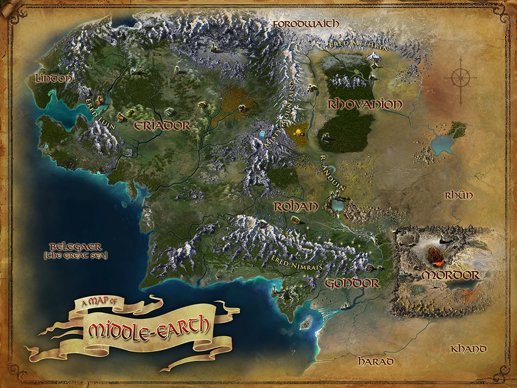 new map of middleearth for lotro