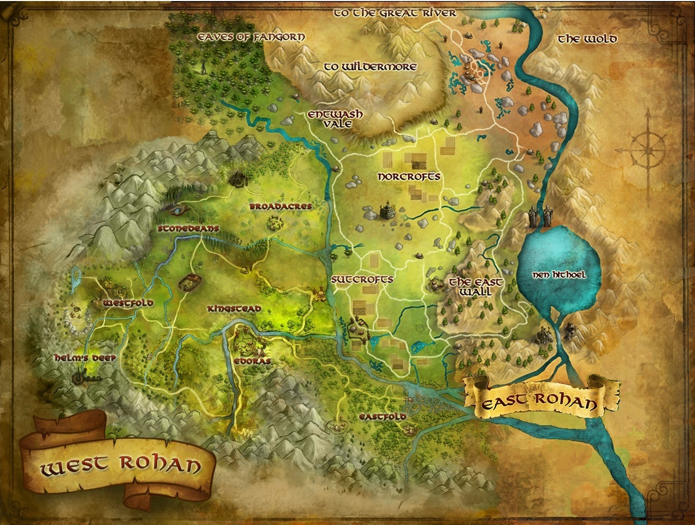 Lord Of The Rings Online World Map.A More Complete World Map