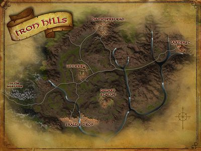 Map of the Iron Hills