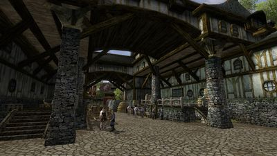 Another view outside the tavern
