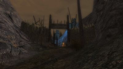 The entrance into the dark hillmen stronghold
