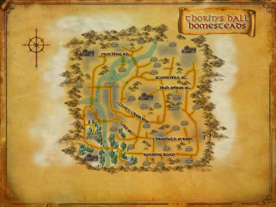 Map of Thorin's Hall Homesteads