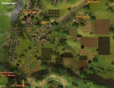 Terrain map of Oatbarton