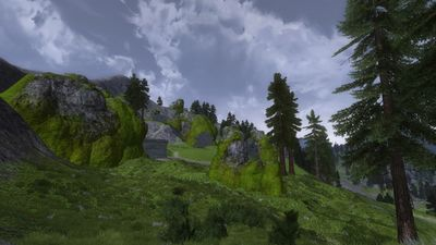 View of the giant den that takes up a decent portion of Southern Emyn Uial