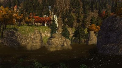 Another view of the central lake of Rivendell Valley