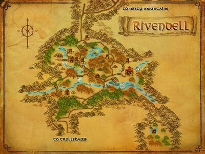 Map of Rivendell Valley