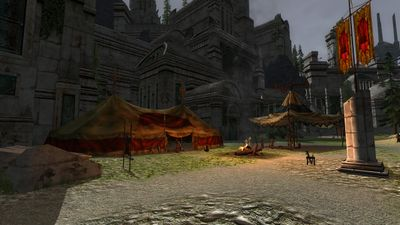 An Angmarim command tent in Minathranc