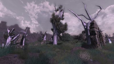 One of many unnamed ruins in the Fields of Fornost