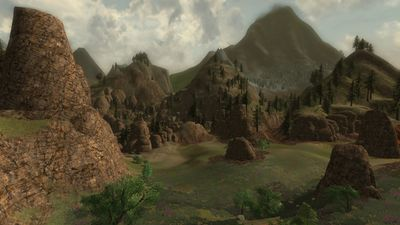 Another view of the valley of giants, drakes, and trolls