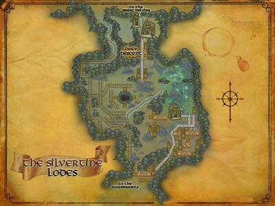 Map of the Silvertine Lodes
