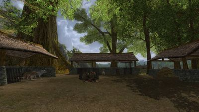 Wolf pens at Skunkwood's Farm