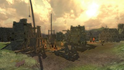 The siege equipment in the orc camp in outer Fornost