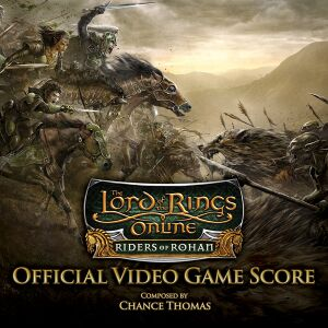 "Album art for the RoR soundtrack, showing the splash screen art with the RoR logo and the text ""Official video game score. Composed by Chance Thomas""."