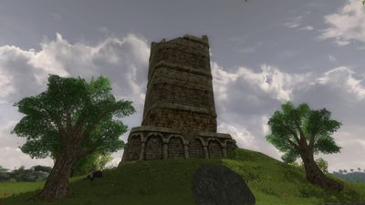 A ruined tower in the western Brandy Hills