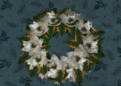 Item Bountiful White Poinsettia Wreath Lotro Wiki Com