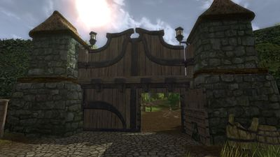 View of the gate from within Bree