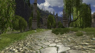 The stone road through the Way of Kings