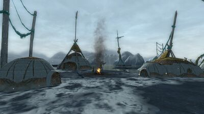 A collection of igloos within the Lossoth capital