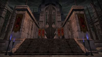 Imposing monument set up by the forces of Angmar