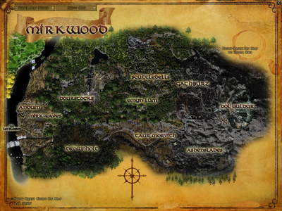 Topographic map of Mirkwood
