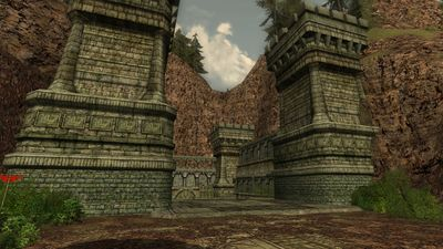 Ost Chall's entrance into the Lost Temple