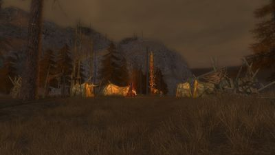 One of the many camps within the orc fortress