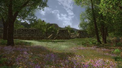 Flowers bloom outside the walls of Ost Baranor