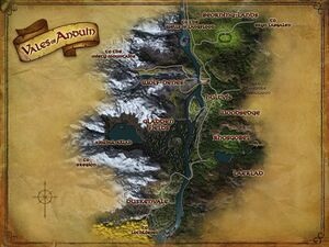 Map of the Vales of Anduin