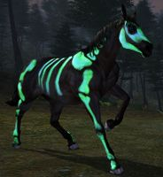 Image of Green Painted Skeleton Horse