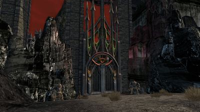 The gate of Carn Dûm from Fasach-falroid