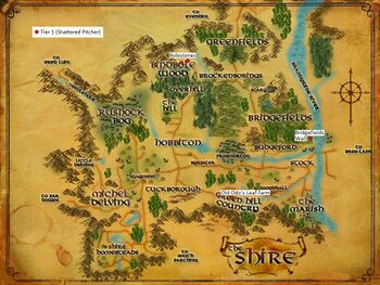 Map of The Shire Artifacts