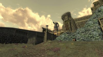 The ramp leading up to the city of Fornost