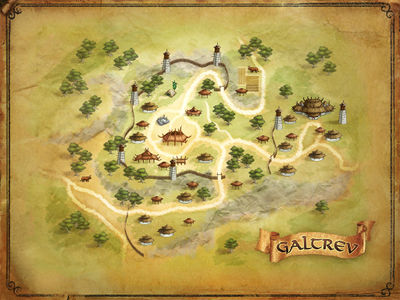 Click for larger map of Galtrev
