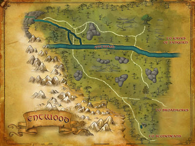 Map of the Entwood