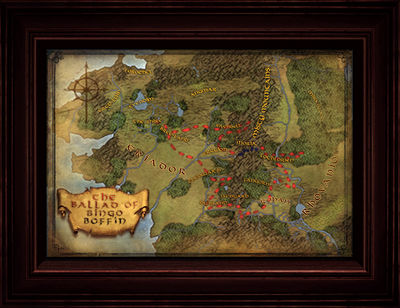 large map of bingo in middle earth