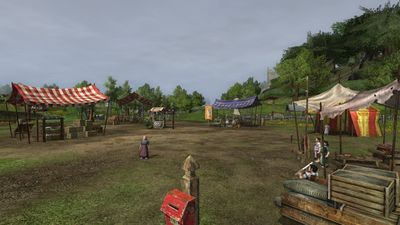 The Buckland vendor market is on the outskirts of Crickhollow