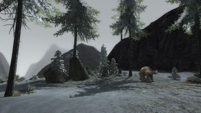 Trolls and bears atop the peak of Orod Laden