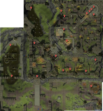 Terrain Map of Fornost (before Fornost was split in 4 instances)