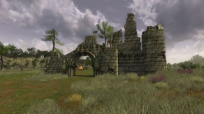 Orc captured ruins on the northern ridge