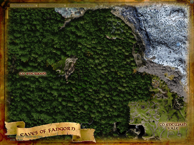 Topographic map of the Eaves of Fangorn
