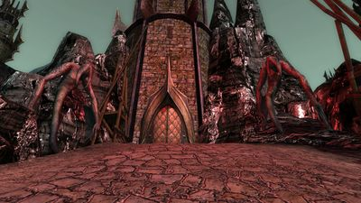 The entrance into the goblin occupied spire