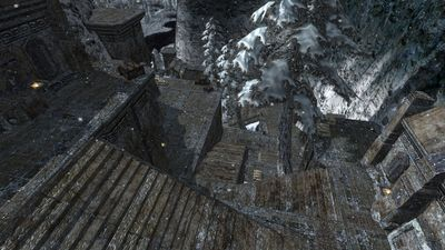 The many stairs outside Silver Deep Mine