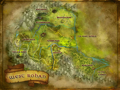 Map of West Rohan