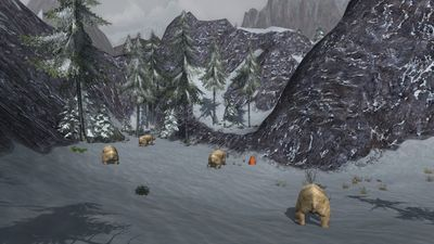 Huge snow-bears gathered in High Crag