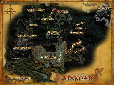 Topographic map of Angmar