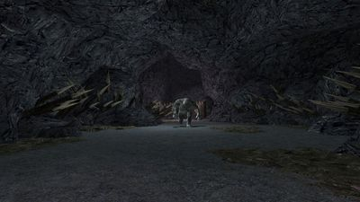 The throne room's pit and the cave-troll who calls it home