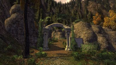 The south gate of Elrond's Stables