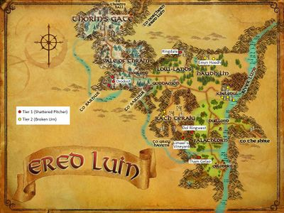 Ered Luin Artifact Map