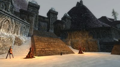 The upper courtyard of the Dwarven fort