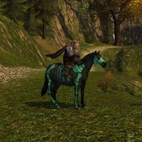 Image of Green Painted Skeleton Pony